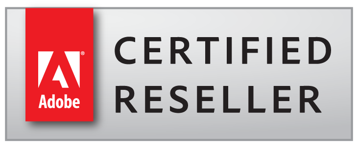Adobe Certified Reseller badge 2 lines
